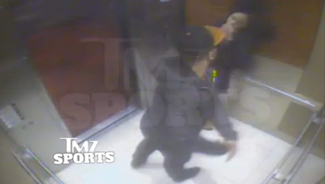 Ray Rice attacking Janay Palmer
